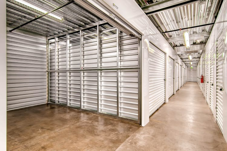 A look inside of a storage unit at Greenbox Self Storage in Denver, Colorado
