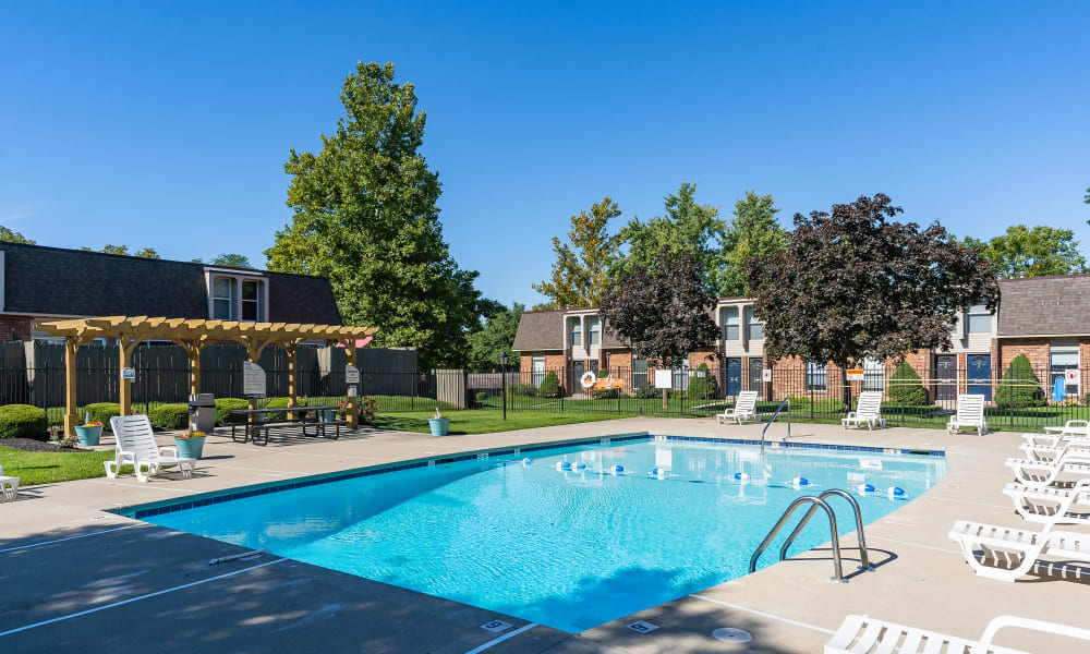 Sparkling pool at Thirty43 by the Greene in Kettering, Ohio