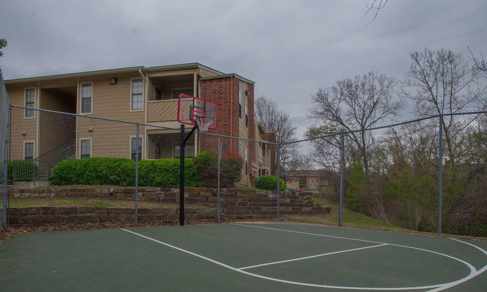 Basketball court at Creekwood Apartments in Tulsa, Oklahoma