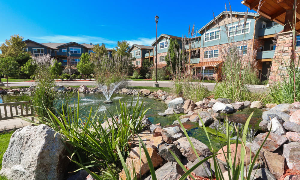 outdoor views of Keystone Place at Legacy Ridge in Westminster, Colorado