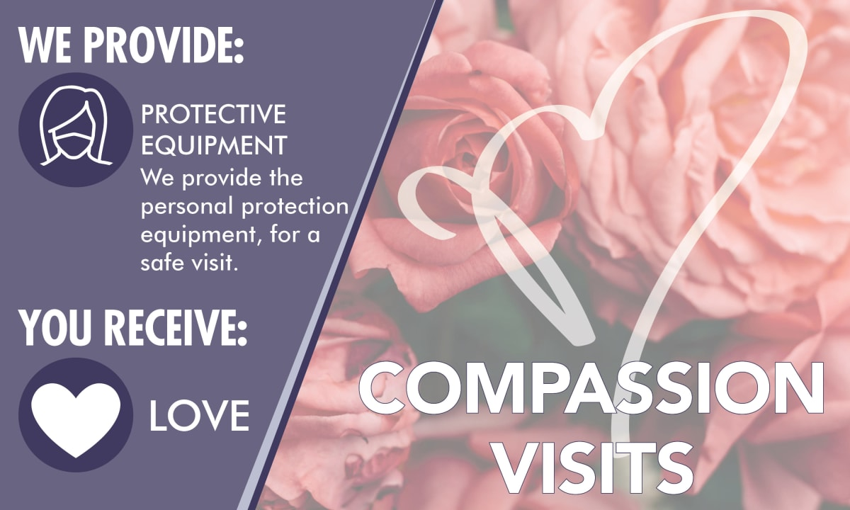 Compassion visits graphic for McLoughlin Place Senior Living in Oregon City, Oregon