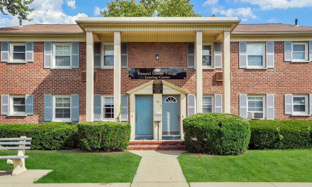 Front entrance at General Greene Village Apartment Homes in Springfield, NJ