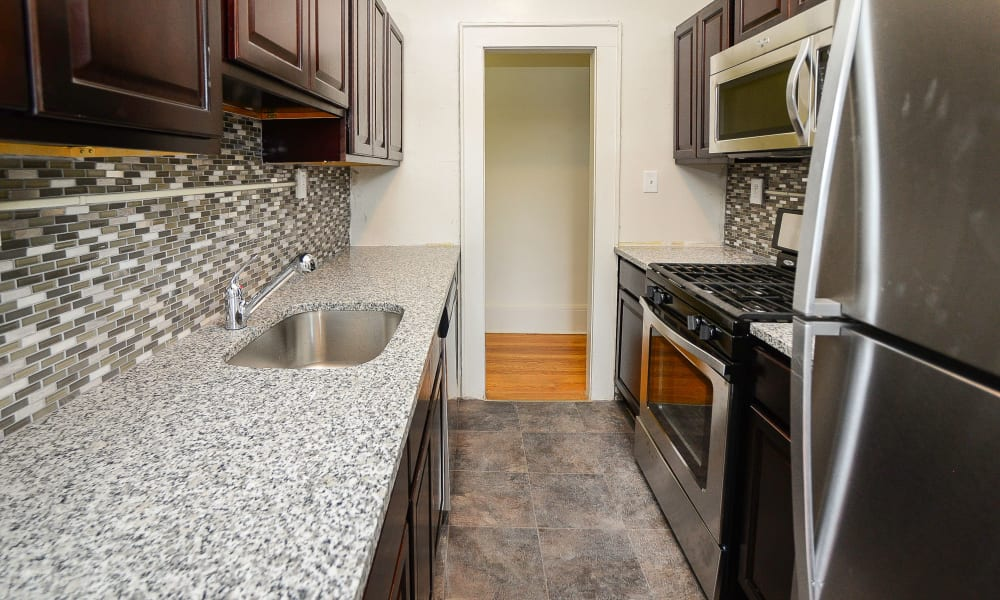 Kitchen at Apartments in Montclair, New Jersey