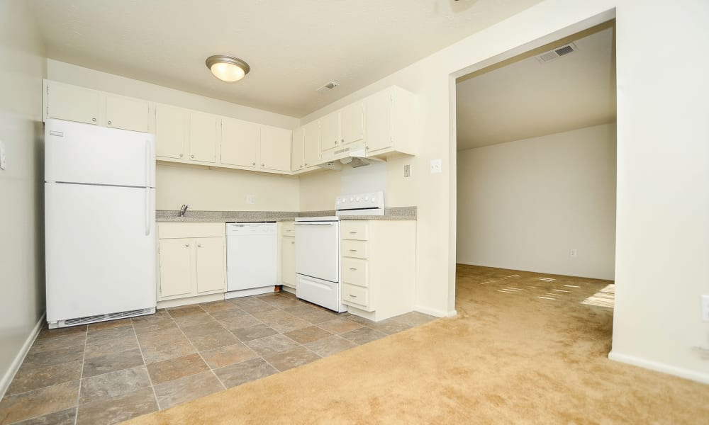 Westwood Gardens Apartment Homes offers a kitchen in West Deptford, NJ
