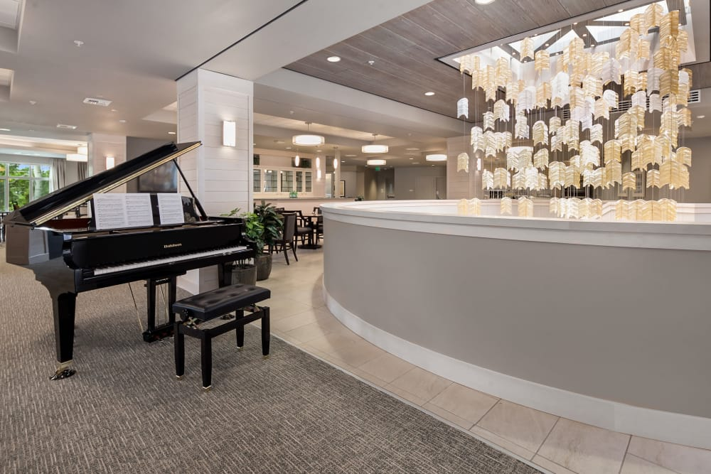 Piano at our senior living facility in Monterey