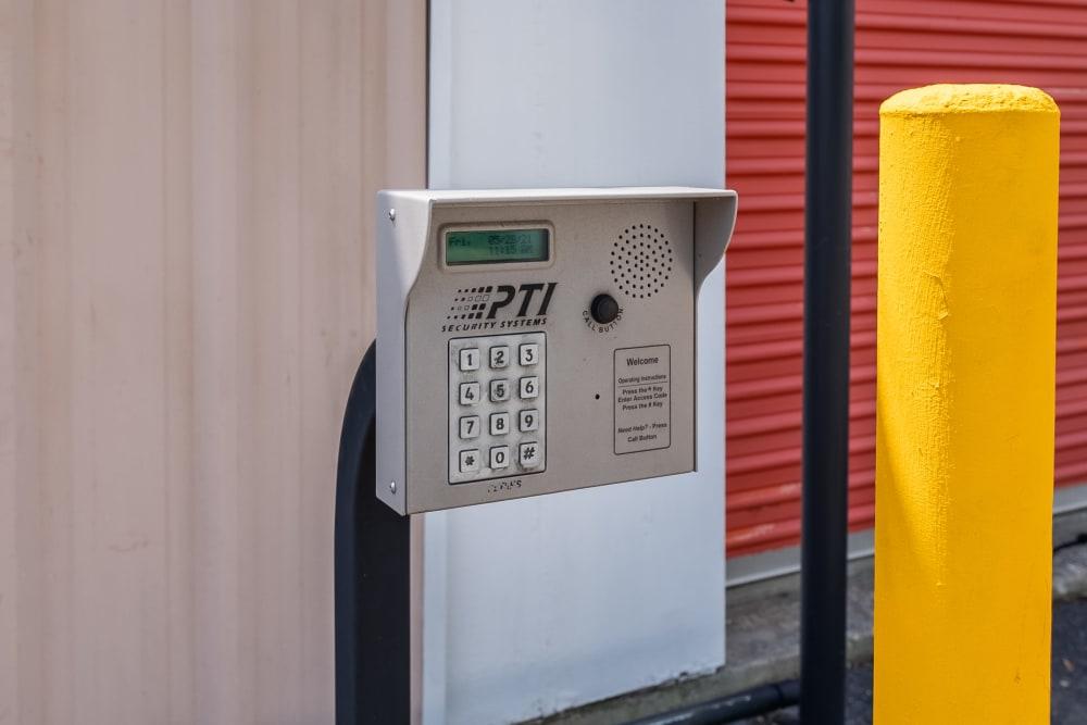 Keypad access point for SecurityPlus Self Storage in Virginia Beach, Virginia