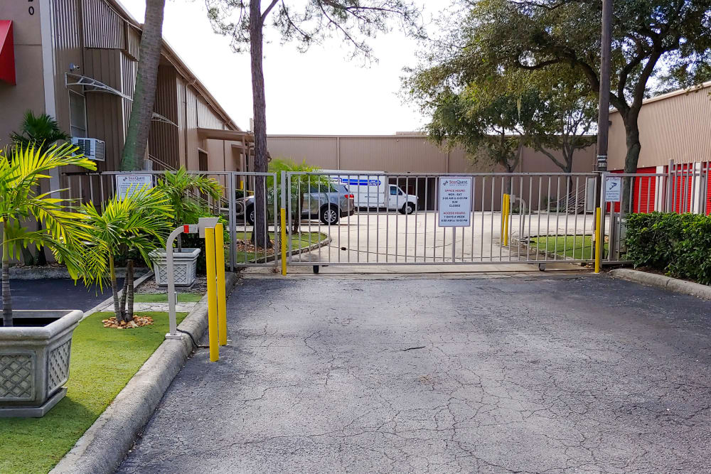 Electronically controlled fences provide security for our self storage customers