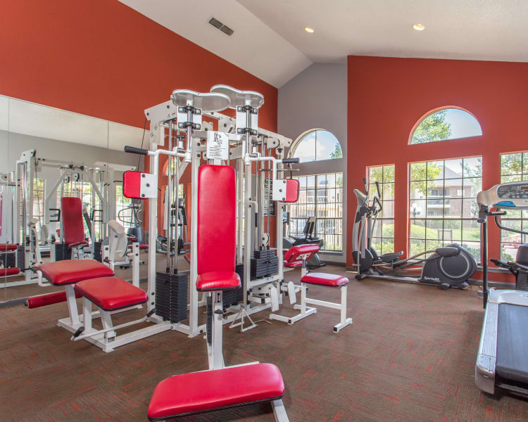Spacious contemporary clubhouse at Laurel Heights at Cityview in Fort Worth, Texas