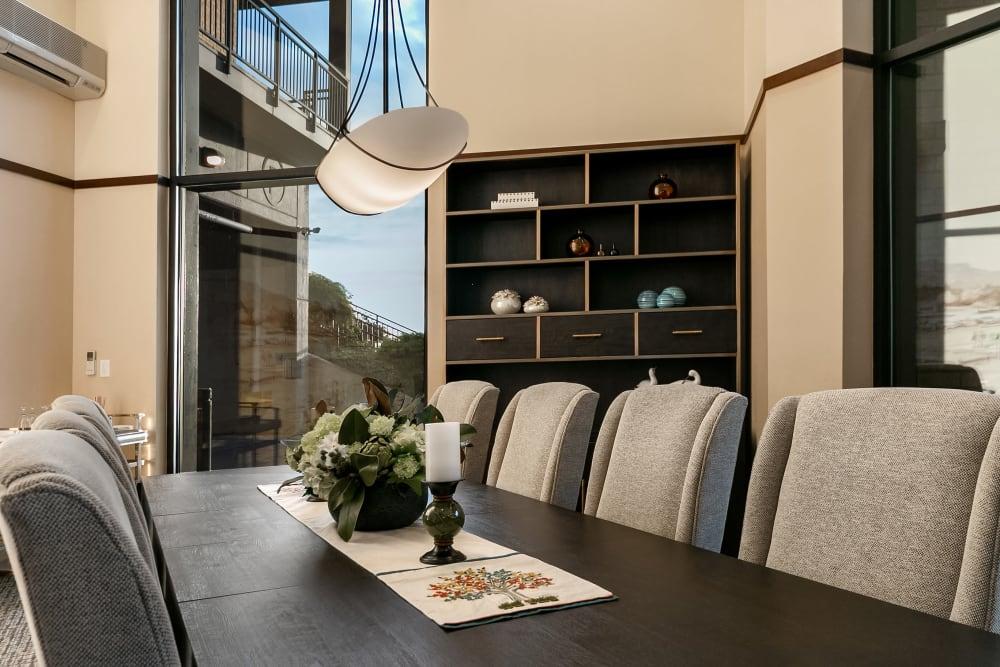 Private dining room at Merrill Gardens at Kirkland in Kirkland, Washington.