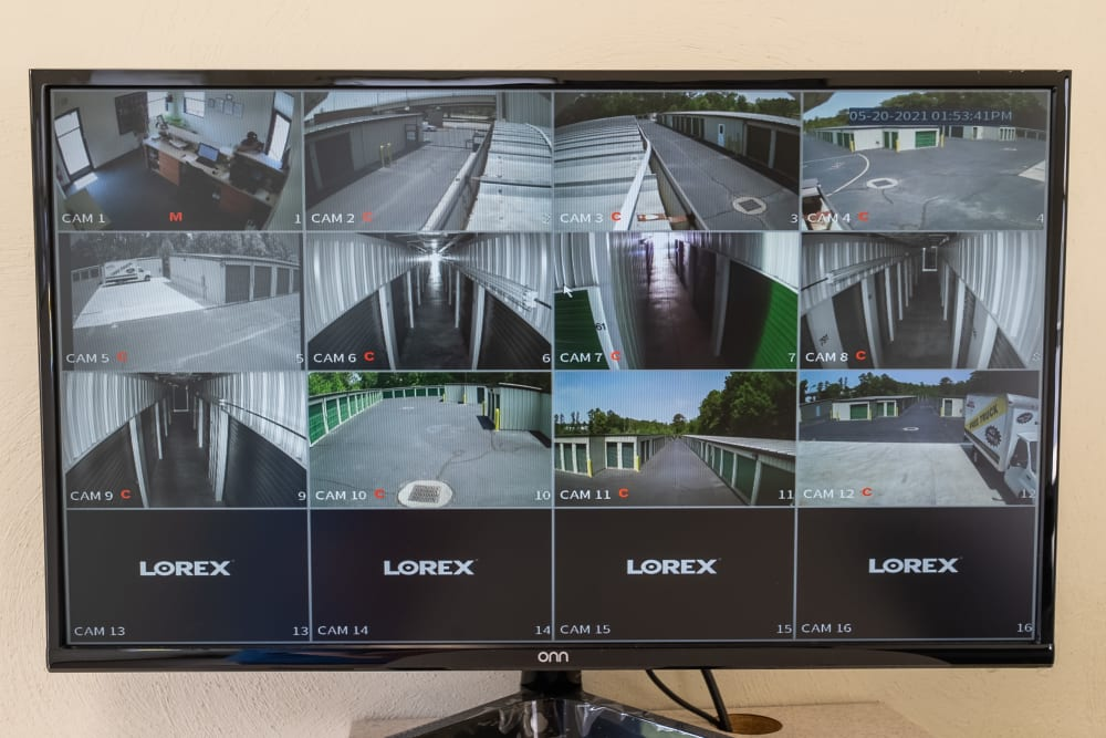 24-hour security camera recordings at Dominion Self Storage in Chesapeake, Virginia