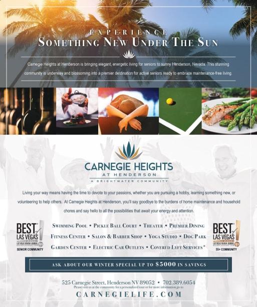 informational Brunch flyer for Carnegie Heights at Henderson