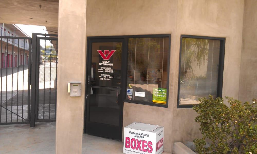 Front office of storage units in Tarzana, California