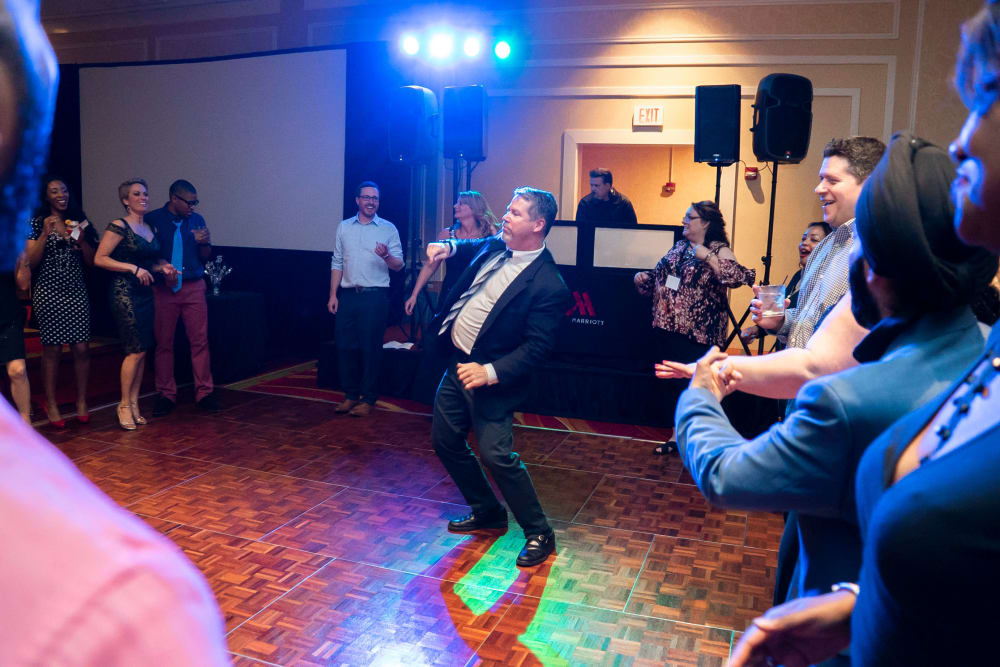 CAPREIT employee on the dance floor
