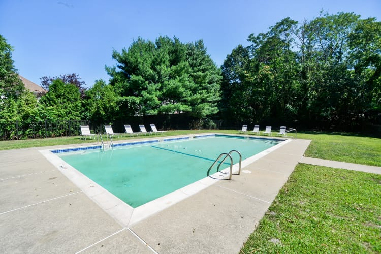 Our apartments in Mahwah, New Jersey showcase a unique swimming pool