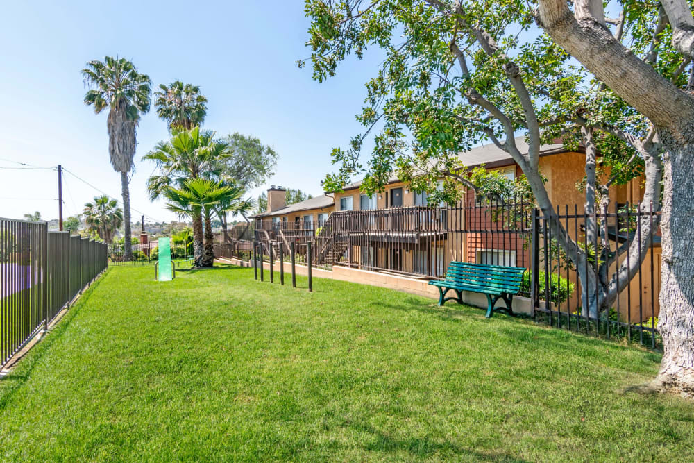 Have fun with your furry friend in the dog park at Hillside Terrace Apartments in Lemon Grove, California