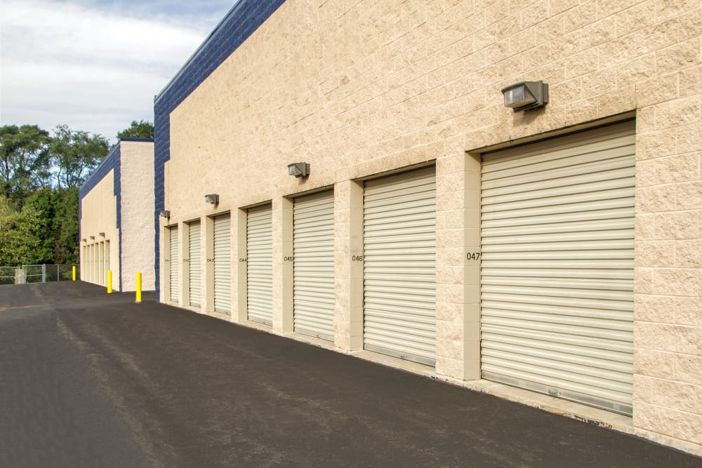 Drive-up units for sale at Prime Storage in West Chicago, Illinois
