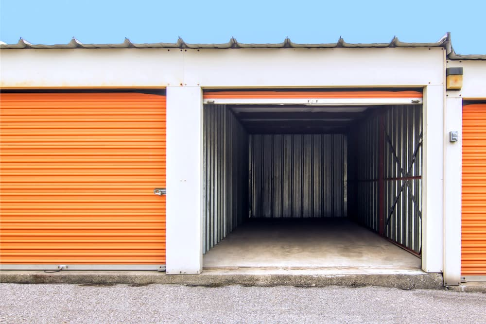 Drive-up access units at Prime Storage in Lansing, Michigan
