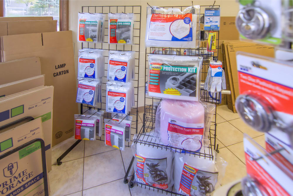 Packing supplies for sale at Prime Storage in West Chicago, Illinois