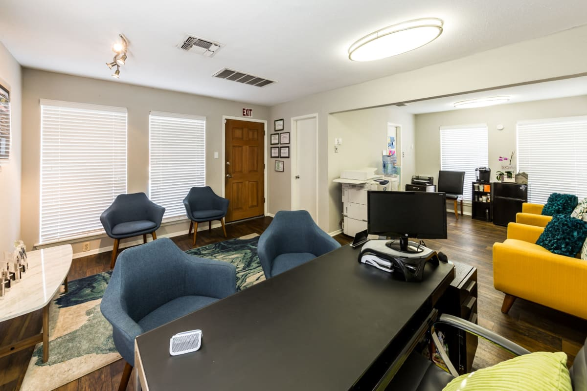 Leasing office at SoCo on The Lake in Austin, Texas