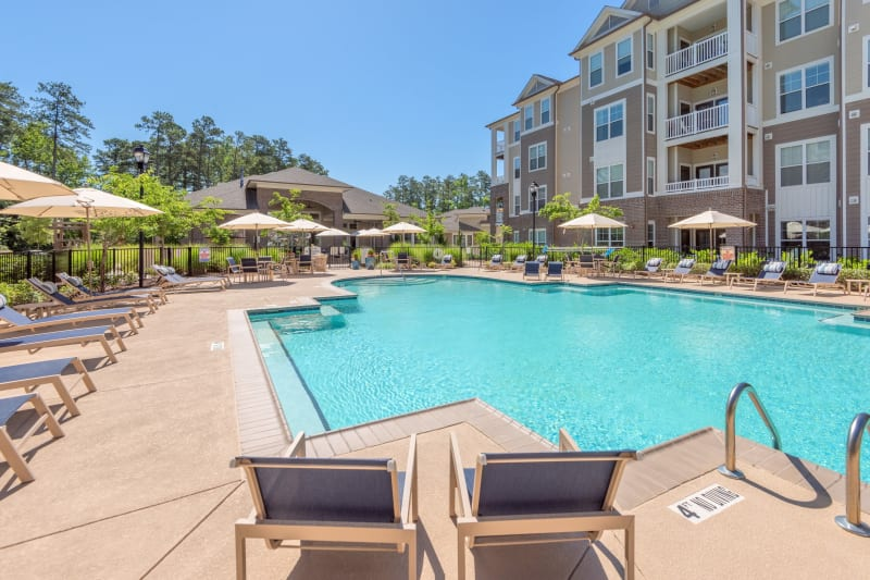 Resort style pool in Raleigh, North Carolina at Sterling Town Center