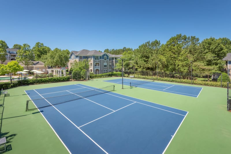 Tennis court at The Mark in Raleigh, North Carolina