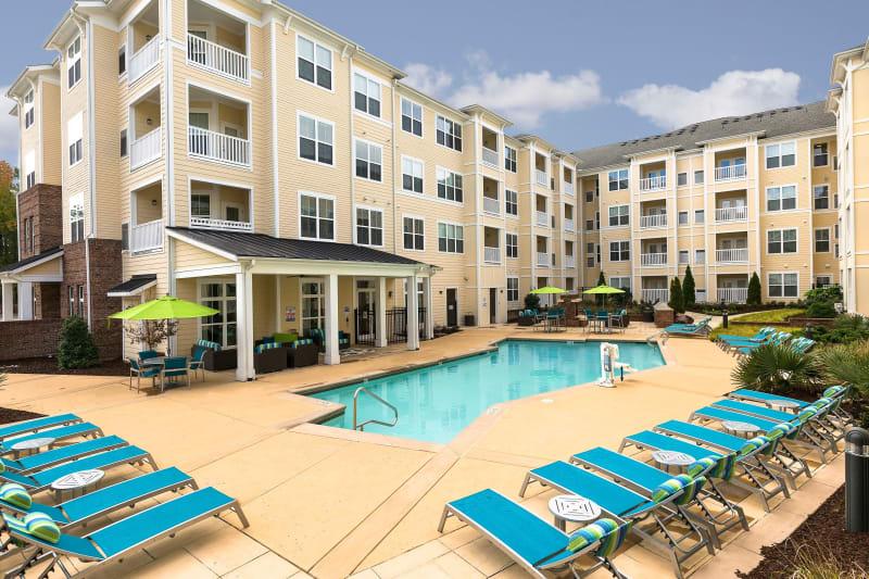 Pool view at Level at 401 in Raleigh, North Carolina