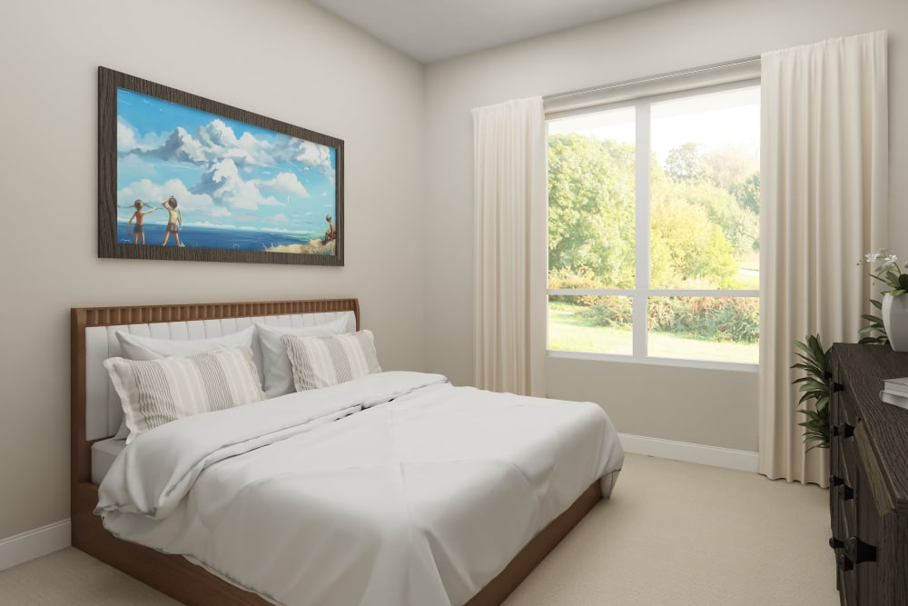 A large bedroom at Harmony at Bellevue in Nashville, Tennessee