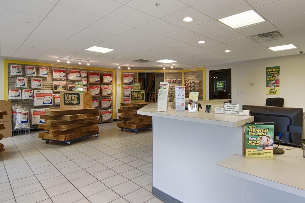 Office reception at Metro Self Storage in Sarasota, Florida