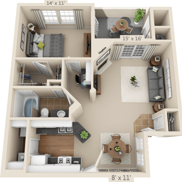 1 Or 2 Bedroom Apartment For Rent