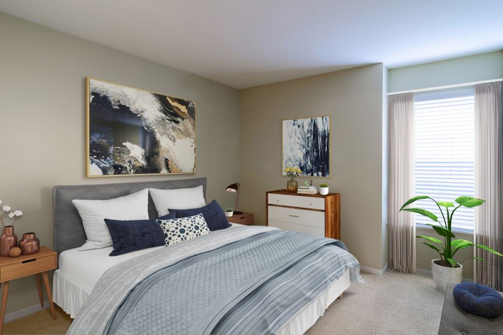Spacious bedroom with a closet at Sofi Lake Oswego in Lake Oswego, OR