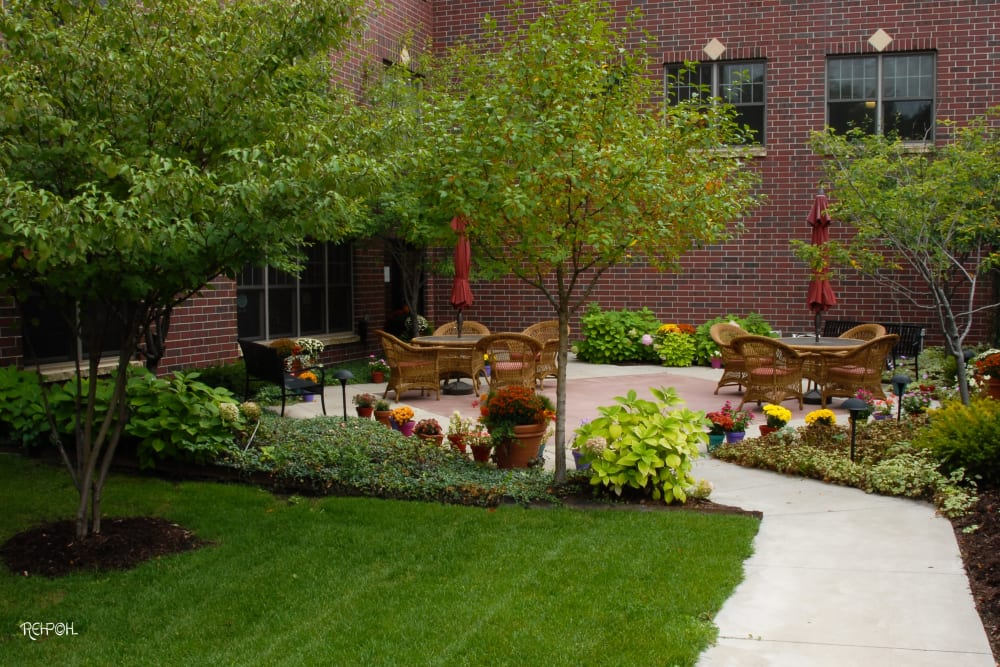 Ponds patio at The Glenn Hopkins