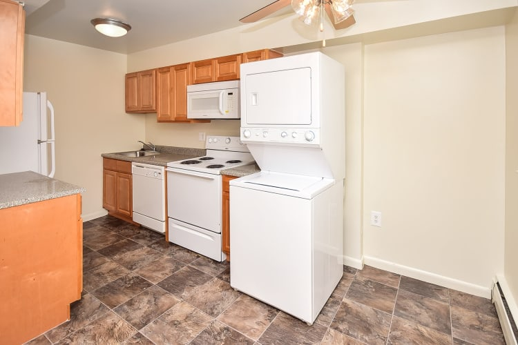 Enjoy apartments with a naturally well-lit kitchen at Warwick Terrace Apartment Homes