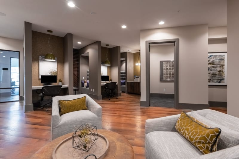 Clubhouse for residents to work in at Domain at Founders Parc in Euless, Texas