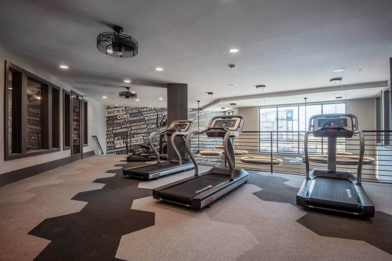 Full state of the art fitness area for residents at Domain at Founders Parc in Euless, Texas