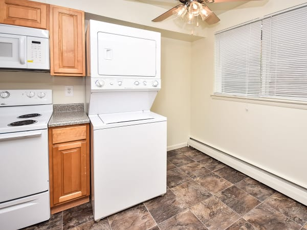 Spacious kitchen at apartments in Somerdale, New Jersey