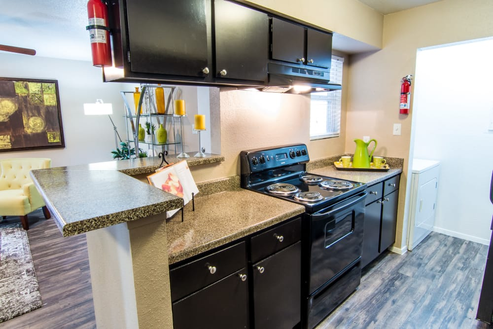 Kitchen at Deerbrook Forest Apartments