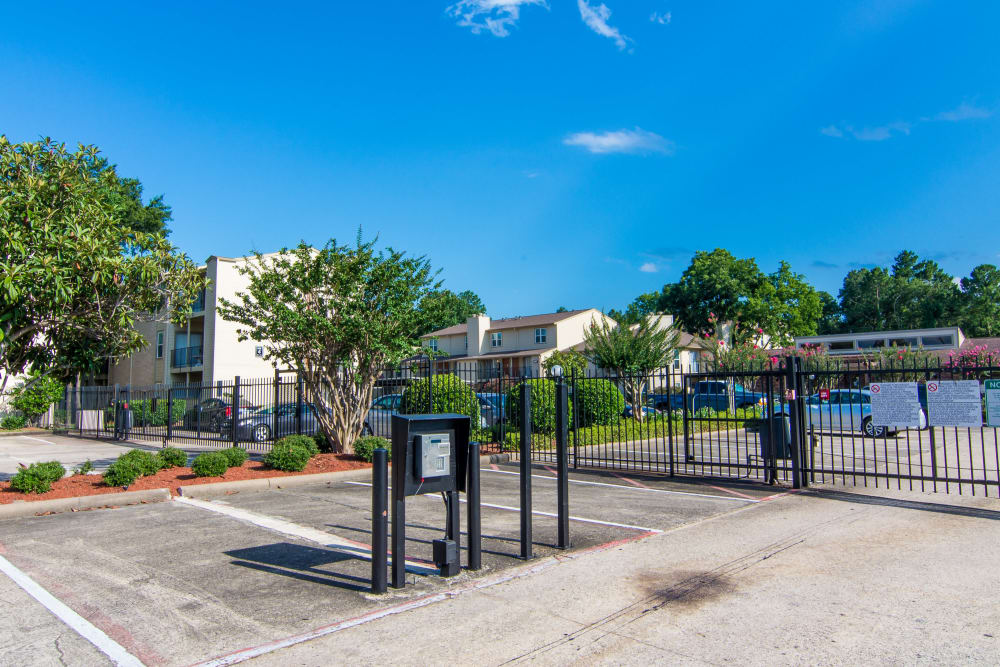 Gated entrance to Deerbrook Forest Apartments