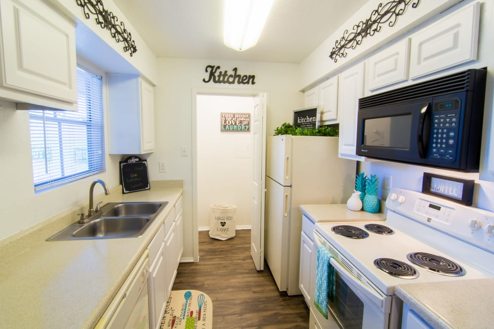 Kitchen at Parkside Apartments