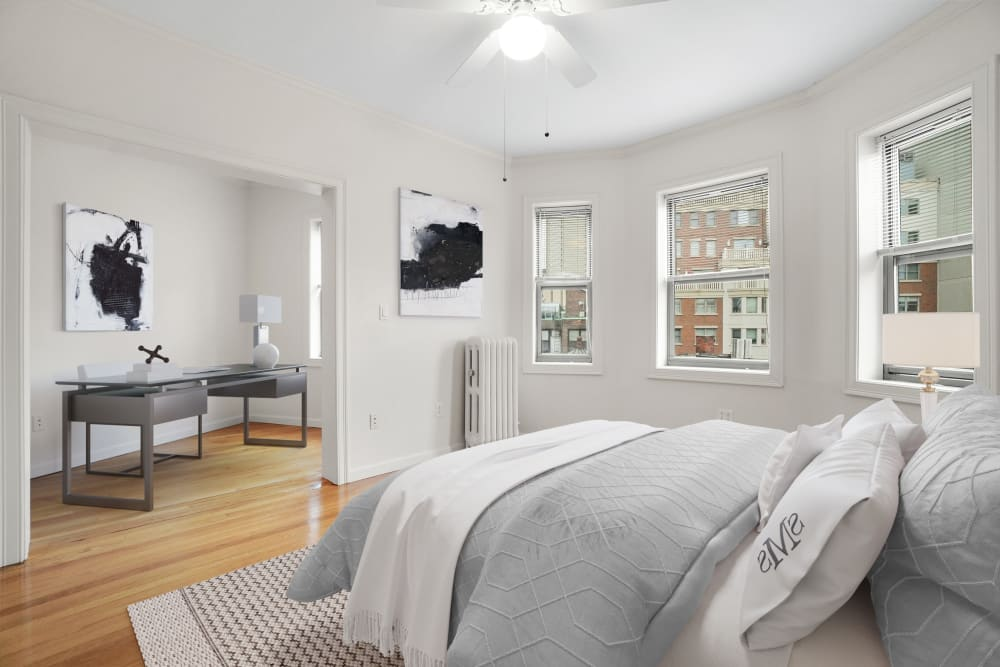 Bedroom at Burbank Apartments in Boston, Massachusetts