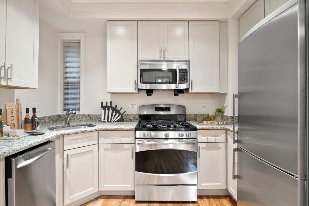 Kitchen at Burbank Apartments in Boston, Massachusetts