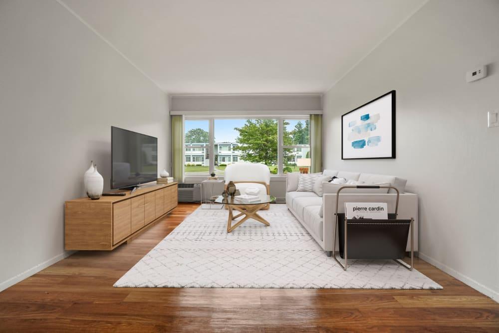 Living room at Taunton Gardens in Taunton, Massachusetts