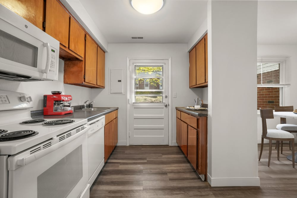 Kitchen and dining room at Stony Brook Commons in Roslindale, Massachusetts