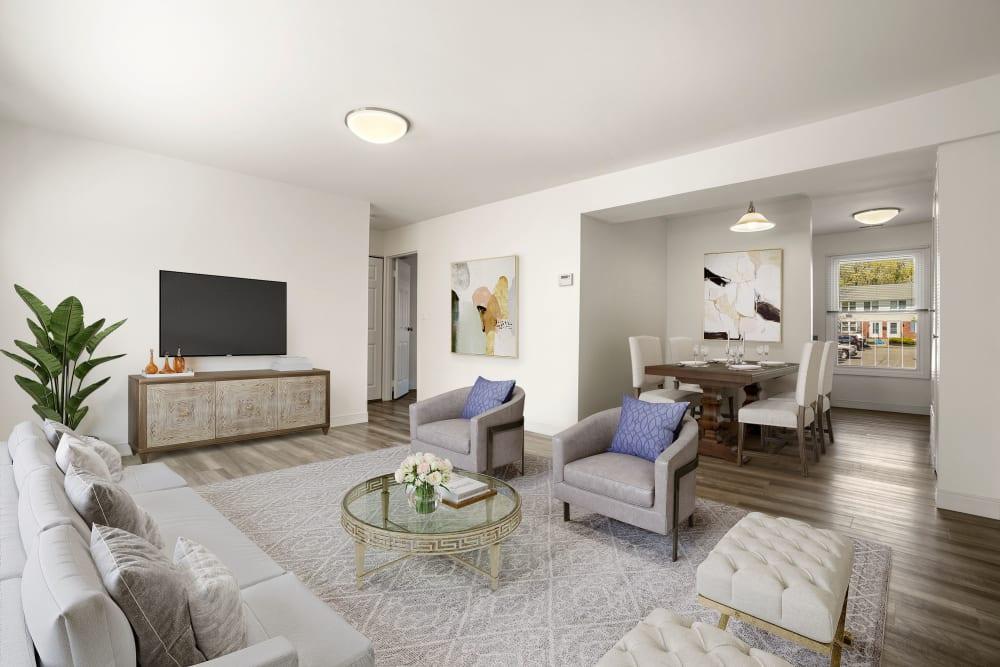 Living room at Stony Brook Commons in Roslindale, Massachusetts