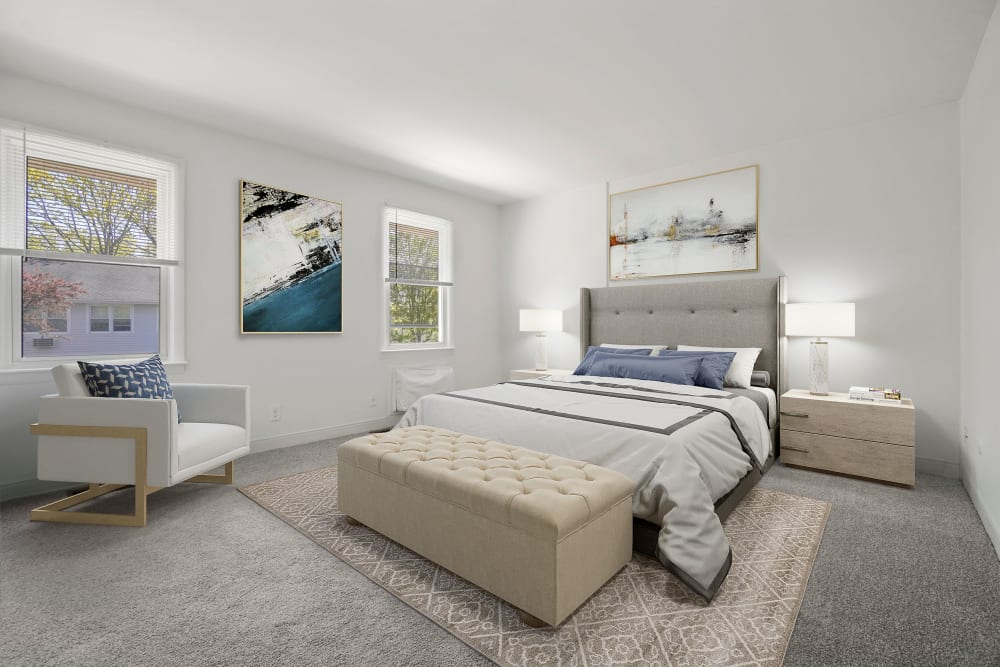 Bedroom at Stony Brook Commons in Roslindale, Massachusetts