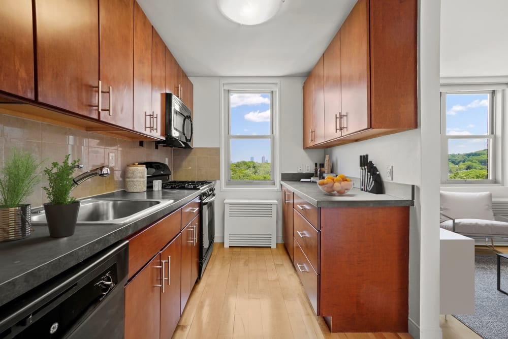 Kitchen at Camelot Court in Brighton, Massachusetts