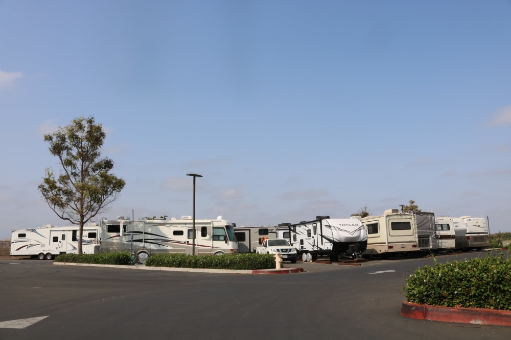 RV and boat storage at our Camarillo location storage facility