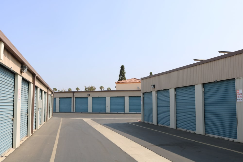Driveway and storage units at our Camarillo location storage facility
