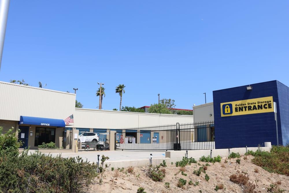 The front of Golden State Storage - Golden Triangle in Santa Clarita, California