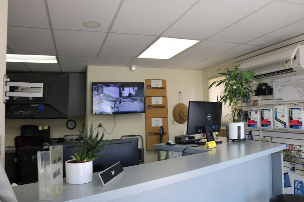 The leasing office at Golden State Storage - Golden Triangle in Santa Clarita, California