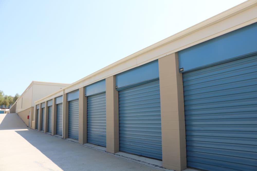 Outside storage units at Golden State Storage - Golden Triangle in Santa Clarita, California